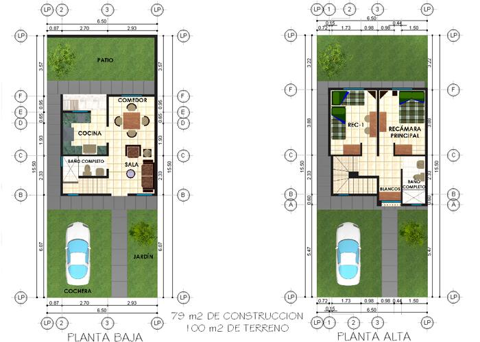 Portal de la hacienda copromsa com for Plantas arquitectonicas de casas