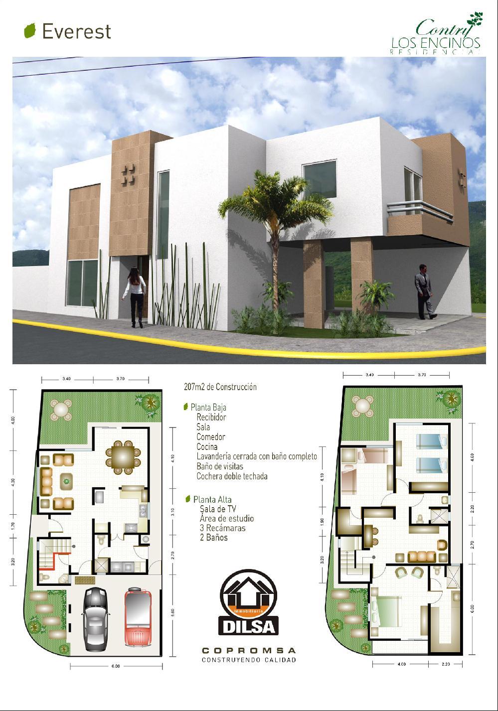 Modelo everest copromsa com for Plantas arquitectonicas minimalistas